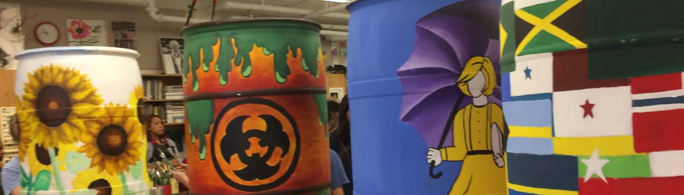 NAHS Art Rain Barrel Project